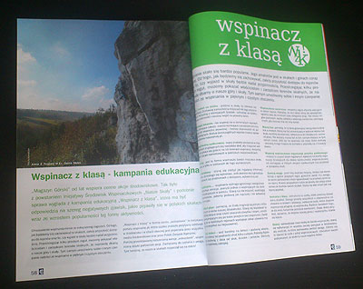 Materiał o Wspinaczu z klasą w Magazynie Górskim nr 26